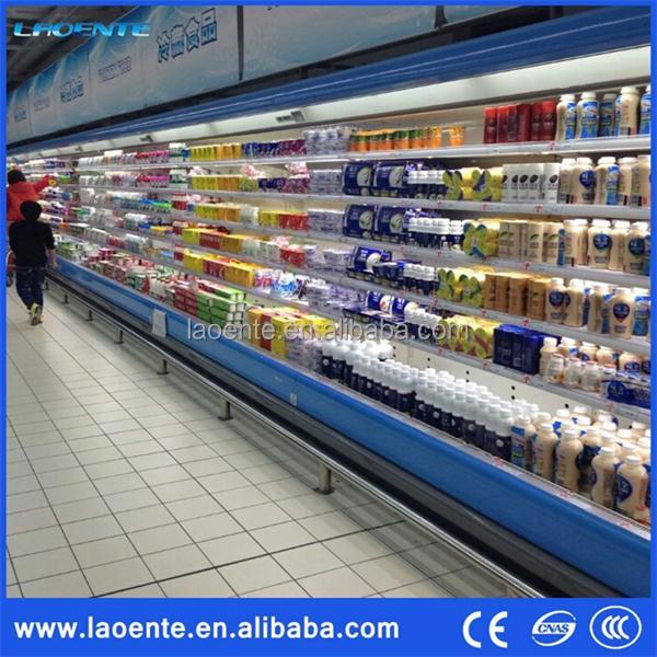 supermarket refrigerator vertical chiller, supermarket super general refrigeration