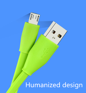 HZX Factory Colorful Flat PVC 5 pin USB Data Charger Cable for Android