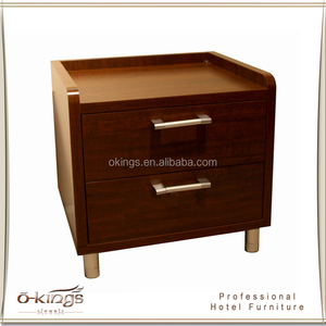 New design night stand with two drawer and brass handle