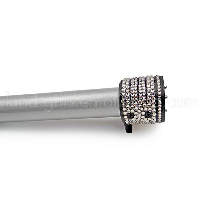 Cool Selling Rhinestone Bead Ceramic Infrared Hair Curler Iron Curling Wand