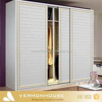 Designed Wood Bedroom Cupboard Baby Wardrobe Closet With Sliding Door
