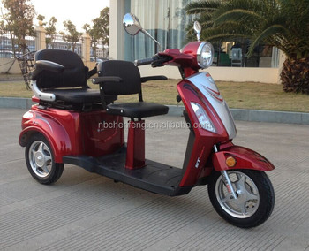 Ce 3 Wheel Electric Scooter With 2 Seat And European Standards