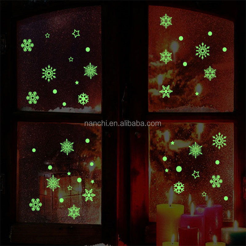 Snow Glow Stickers Luminous Wall Stickers Children Gifts Bedroom Decoration