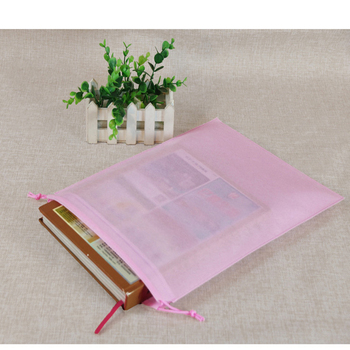 Factory direct sale reusable non woven travel small  drawstring bag