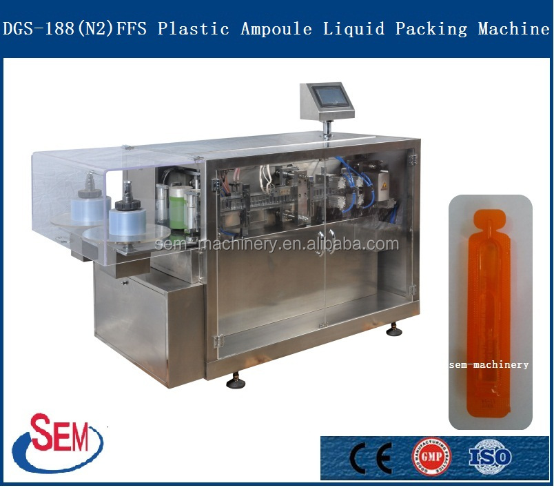 0.65ml plastic ampoule monodose forming filling sealing cutting packaging machine