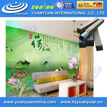Stretched clear Eco solvent environmental inkjet printing blank DIY Vinyl wall paper in roll