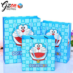custom print Doraemon baby kid chldiren gift,garment, shoes cartoon paper bag