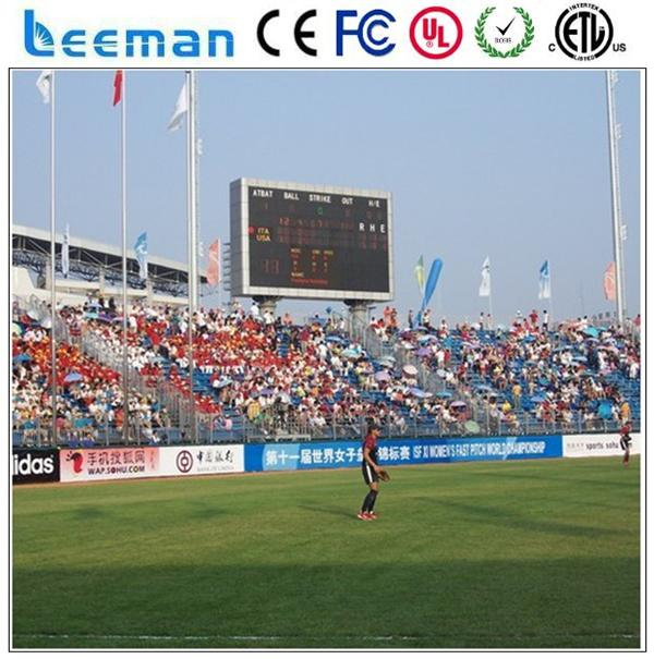 led sports arena screen display beer advertising indoor outdoor flashing el poster stadium led panel screen