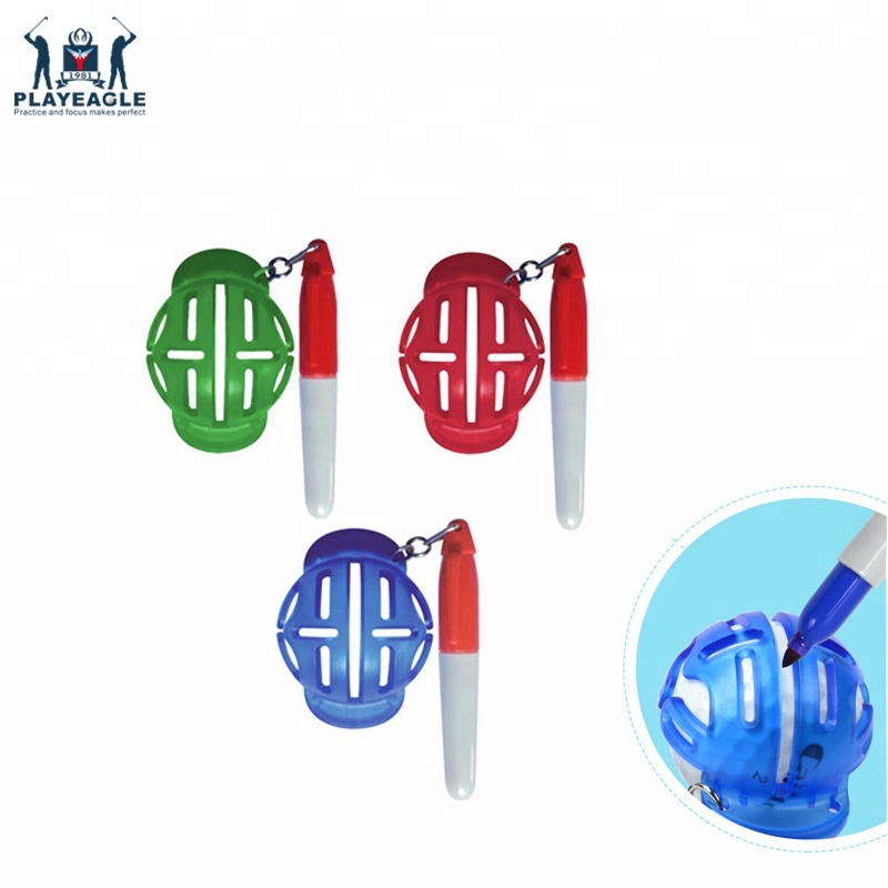 Marker With Pen Multi-template Golf Ball Line Liner Marker Template Draw Plastic Golf Ball Liner