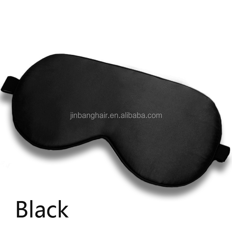 คุณภาพการเดินทาง Soft Cover Blindfold 3d silk sleeping eye mask blinder สีดำ 3D silk sleeping eye mask