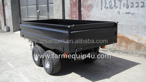 4 wheel farm trailer ,tractor end dump trailer ,Agriculture transport box trailer