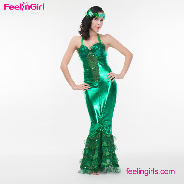 Fast delivery mermaid anime hot sexy girls dance costume