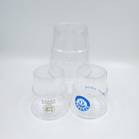 Accept custom 7oz disposable clear plastic cup plastic drinking cup high quality