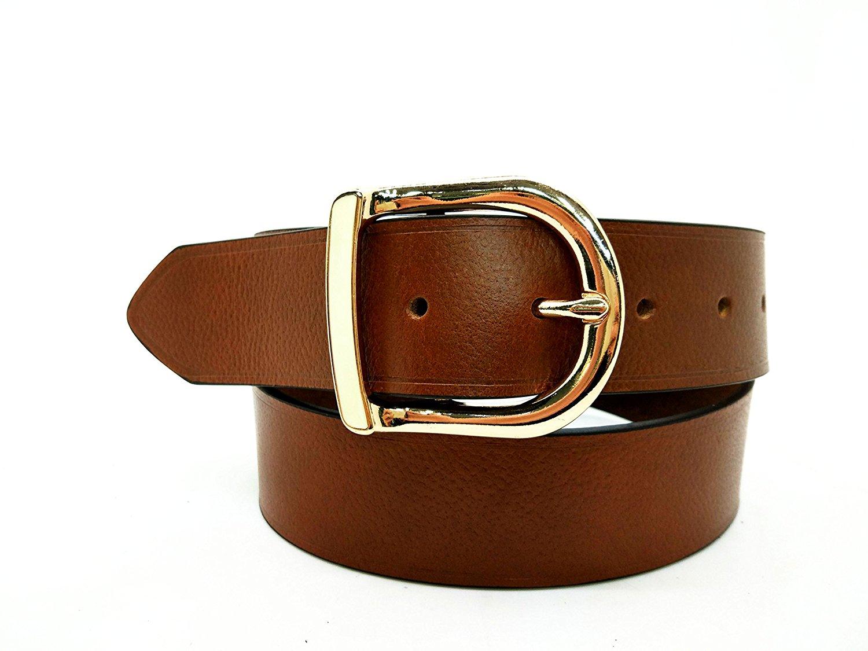"""RIX DE130 Women's Head Layer Cowhide Full Grain Leather Belt- 1-1/2"""" Width"""