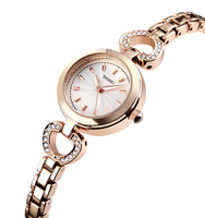 Skmei 3ATM branded latest fashion rose gold plated watches for women watch ladies