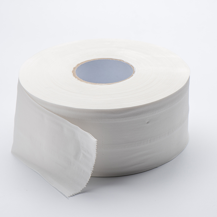recycled jumbo roll tissue used in public place in dispenser