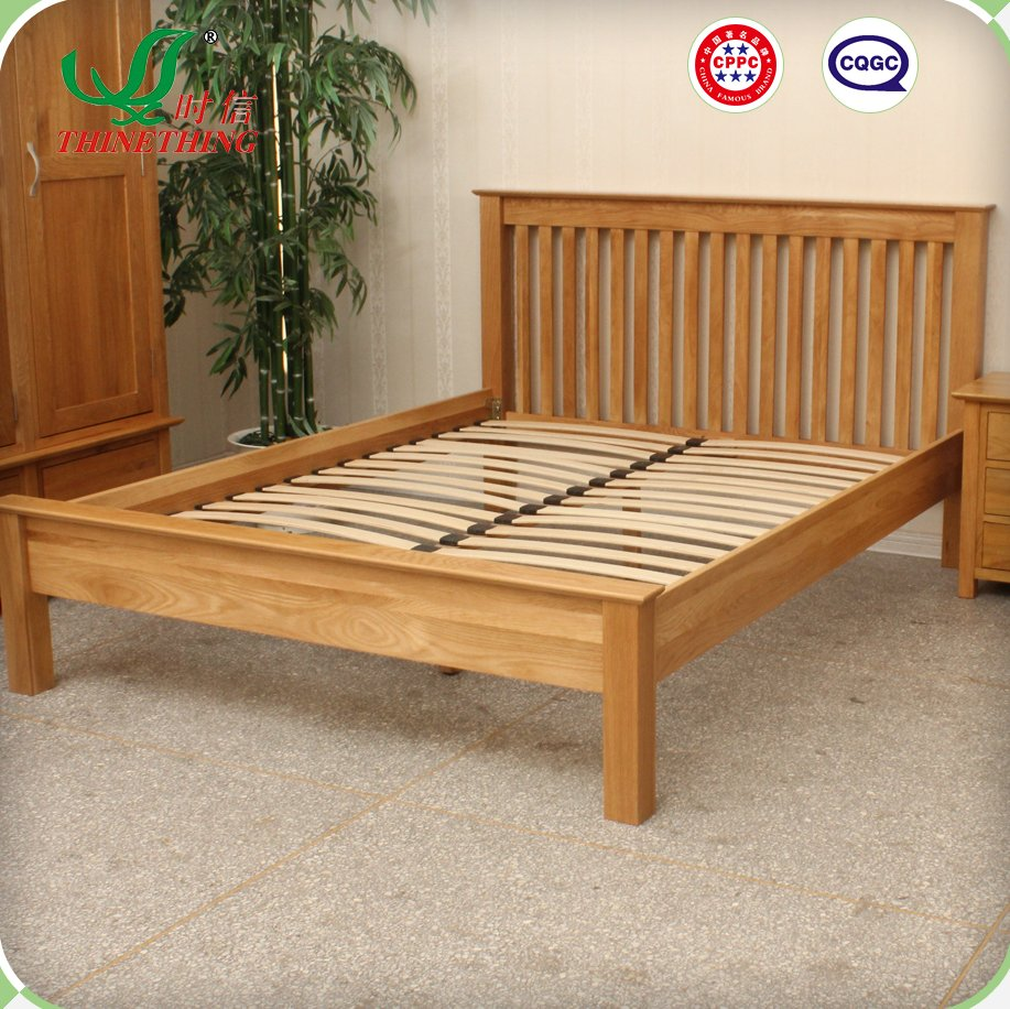 wooden bed frame / solid oak bed/ wood bed frame design oak furniture