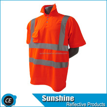 Wholesale Emergency Reflective Safety T-shirt reflex T-shirt