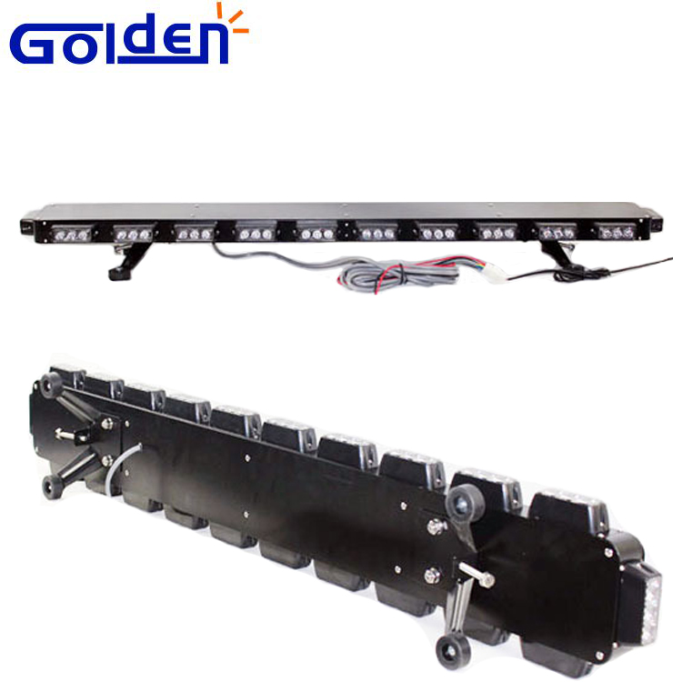 Factory price Police Color Long Row LED Lightbar Car Lamps in black for wholesales