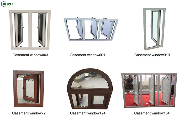 NZS4211 Double Temper Clear Glass Glaze Arch French Casement Window Option