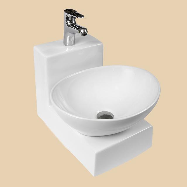 Sanitary Wares Porcelain Wall Mounted Pedestal Sink