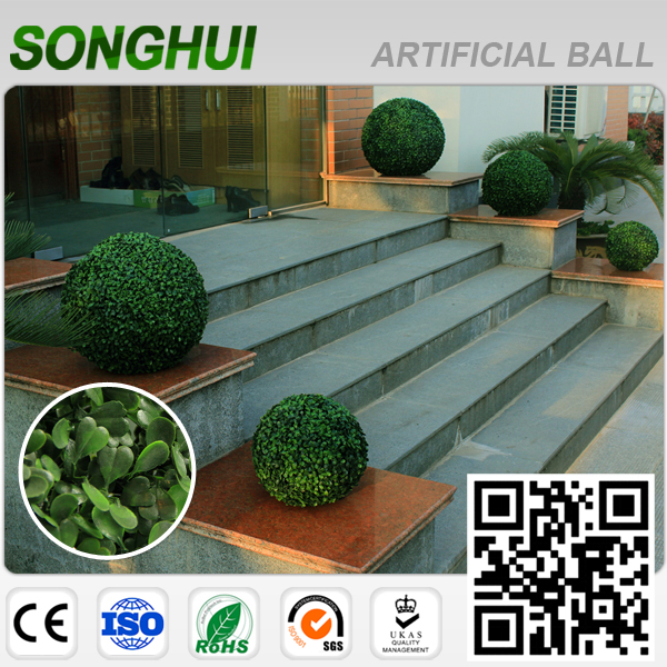high quality large outdoor artificial topiary trees with palm leaves