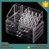 Wholesale Cheap Clear Acrylic Cosmetic Makeup Organizer Storage Box With 3 Drawers