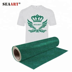 T shirts Emerald Color Glitter Heat Transfer Vinyl
