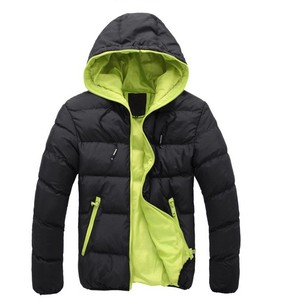 Winter autumn man hooded Slim Fit Windbreaker thin coat with wholesale price