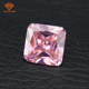 Excellent princess cut 5A high quality big cubic zirconia stone for cz jewelry pendant