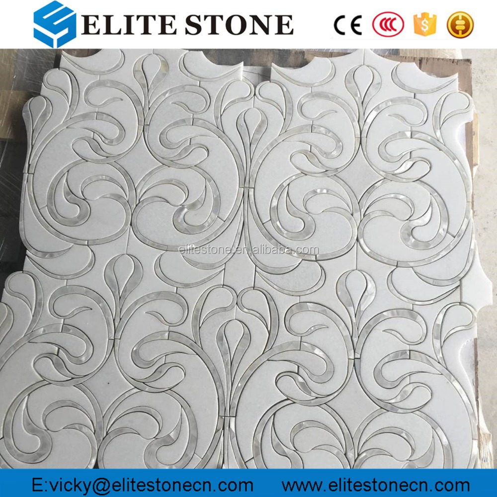 New Design Marble Pearl Of Shell Waterjet Mosaic,Marble Mosaic   Buy Marble  Mosaic,Waterjet Mosaic,Natural Pearl From Clam Shell Product On Alibaba.com