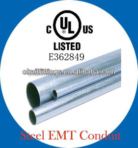UL listed EMT electric Conduit Pipe with UL 797