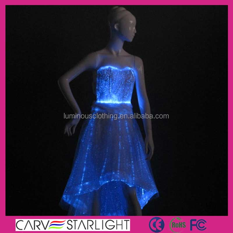 2015 illuminated led light evening prom evening dresses