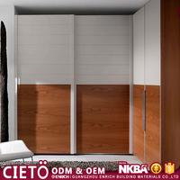 Cheap price Modular Modern white Sliding Door wooden Wardrobe Closet With Shelves