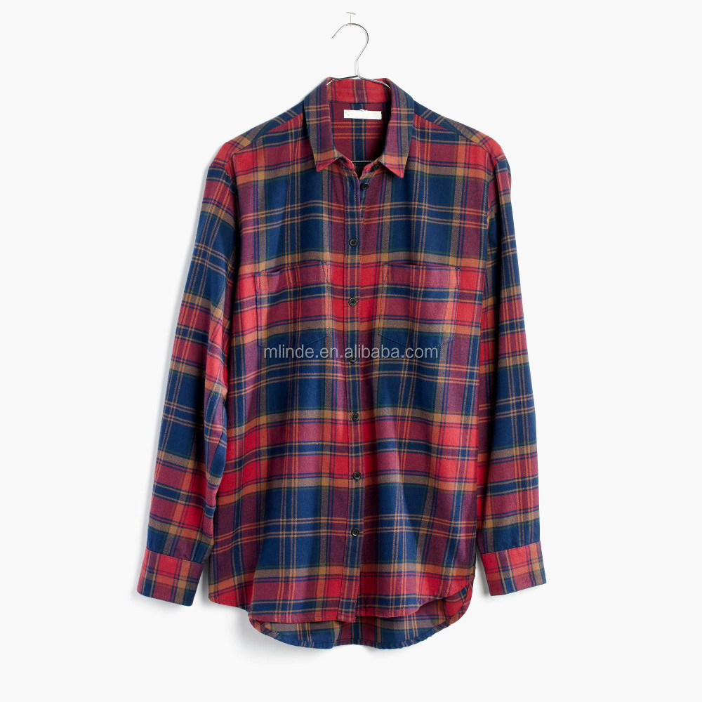 757cbfd07a6 Wholesale Women Fashion Clothing Lined Flannel Oversized Ex-Boyfriend Shirt  in Lewis Plaid Shirts