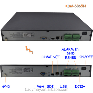 16ch 1080P Realtime ONVIF NVR Recorder, support 2pcs HDD