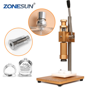 ZONESUN perfume bottle crimping machine vial crimper metal cap press machine perfume bottle crimper spray crimper