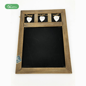 China Online Selling MDF Chalk Wooden Hanging Blackboard Message Board