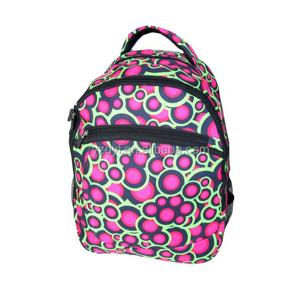Most popular beautiful printed dot backpacks for girls