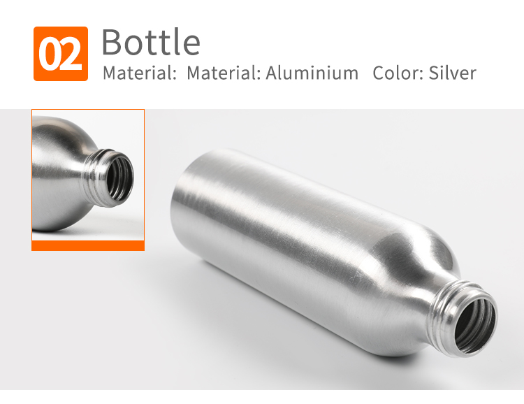 empty cosmetic silver aluminum bottle with trigger sprayer 30ml 50ml 100ml 120ml 150ml 250ml