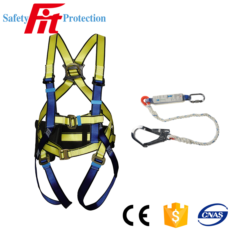 safety fall arrest belt with safety harness hook