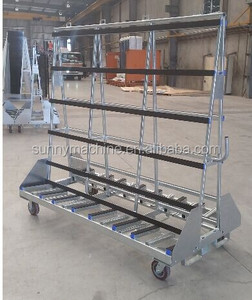 glass rack trolley glass serving trolley moving trolley