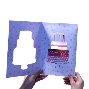 Cheap price custom music cards, musical greeting card with sound chip, happy birthday cards song