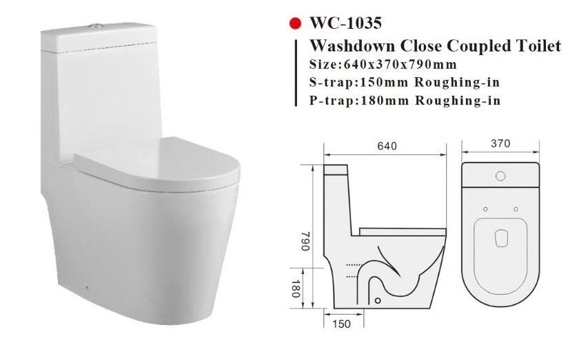 Wc 1035 One Piece Toilet With Geberit Or R Amp T Flush Valve