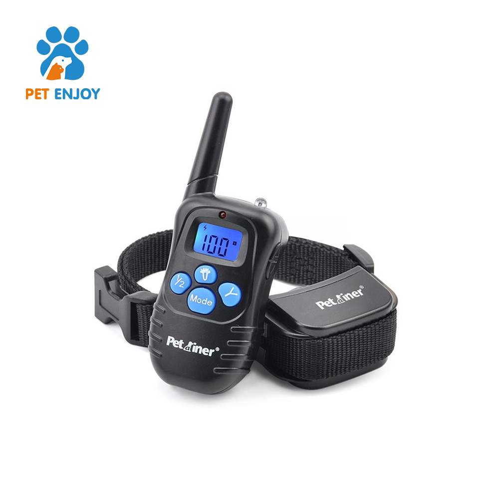 Hot Blue screen Rechargable and Waterproof dog training equipment with collar
