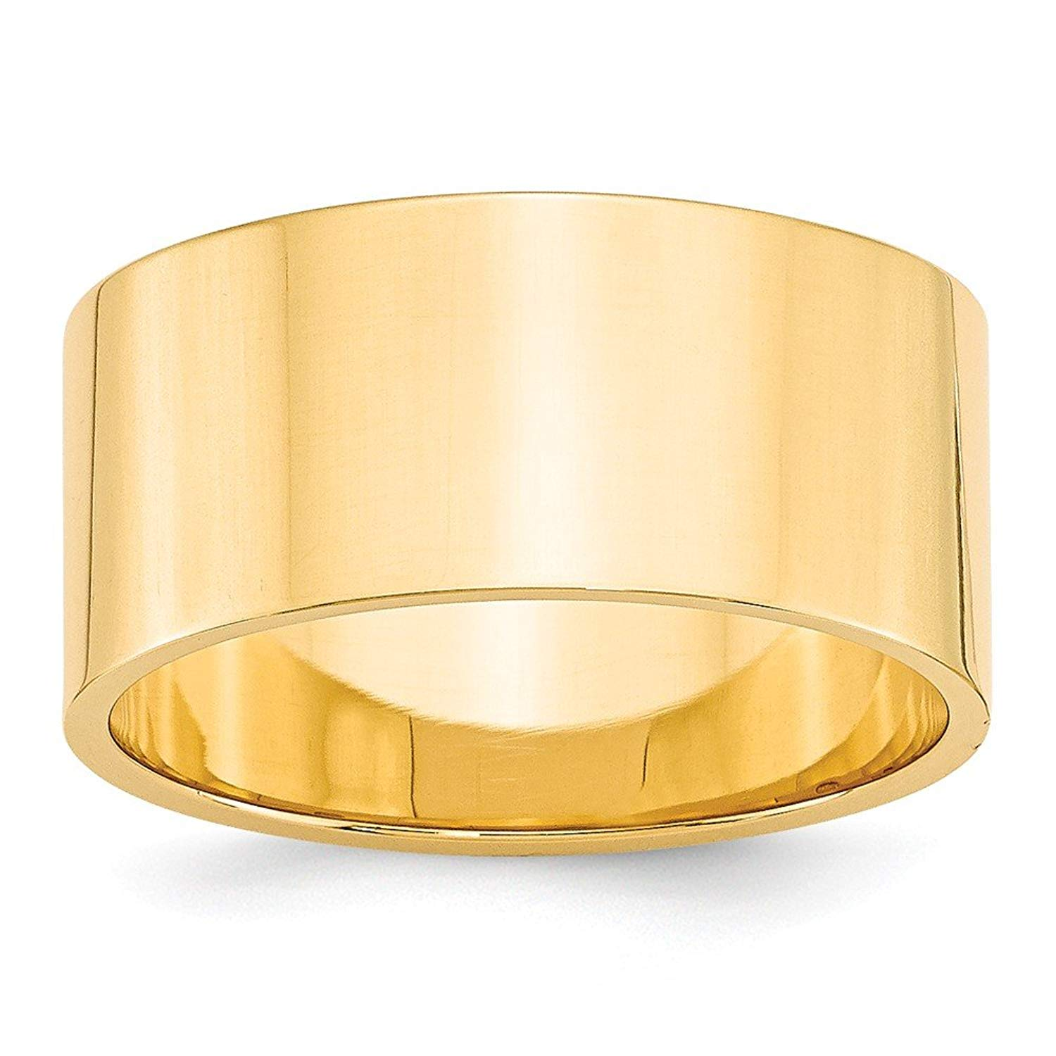 Top 10 Jewelry Gift 14KY 10mm LTW Flat Band Size 8
