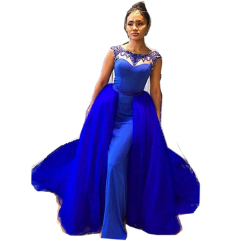 Sleeveless Royal Blue Color Layers Indonesian Wedding Dresses With Detached Skirt Buy Indonesian Wedding Dress Product On Alibaba Com