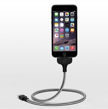 In Stock Top A quality Stand style Metal USB Charging Cable for Iphone and Android