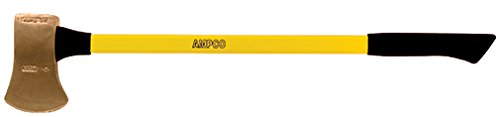 """Ampco Safety Tools A-6FG Axe, Flat Head, Non-Sparking, Non-Magnetic, Corrosion Resistant, 8 lb Head, 36"""" OAL"""