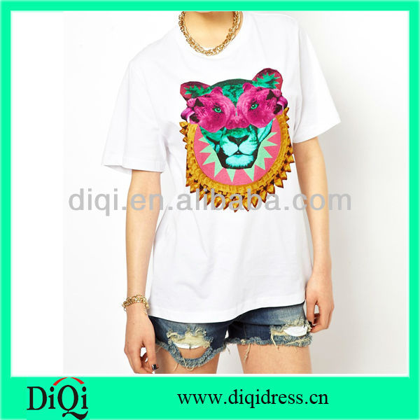women t-shirts with pattern women clothes fashion garment